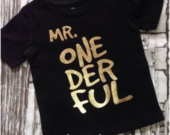 Mr Onderful shirt, mr onderful top, First Birthday outfit boy, Mr onderful, mr onderful boys birthday shirt, boys first birthday shirt, firs