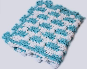 Chunky blanket Baby flower blanket crochet PATTERN Crocheting chunky yarn, babies blanket