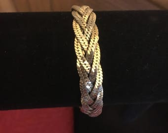 Napier Braided Gold Rope Bracelet