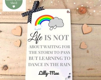 Friend Gift Inspirational Quote Sign Personalised Plaque Keepsake