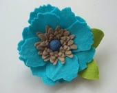 Flower Brooch, felt flower,brooch,flowers,floral brooch, accessory,large flower brooch,hat accessory, ladies gift, handmade, handmade flower