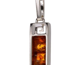 "Sterling Silver and Baltic Amber Pendant ""Aretha"""