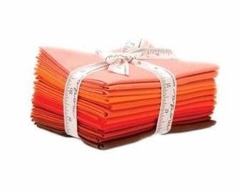 Bella Solids AB 12 Orange 9900AB 129 Moda Precuts, Fat Quarter Bundle, Orange Fat Quarters
