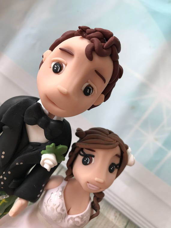 Fully personalised Scottish kilt cheeky clay Wedding Cake Topper highly detailed fully sculpted Keepsake - Bespoke Premium Service