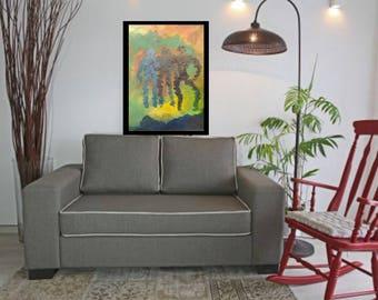 Abstract painting modern acrylic original abstract canvas wall art original print, home decor acrylic giclee print canvas modern art  decor