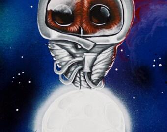 Original painting astro owl