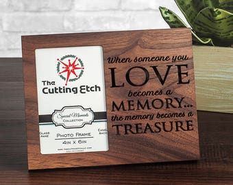 In Memory Of Loved One, Sympathy Gift for Loss, In Loving Memory Frame, Memorial Frame Engraved, Lost Loved Ones, 4x6 or 5x7 picture frame