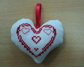 give your heart with cross stitch for Valentine's day