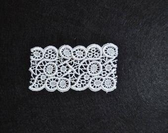 arabesque 10cmx5cm white guipure lace
