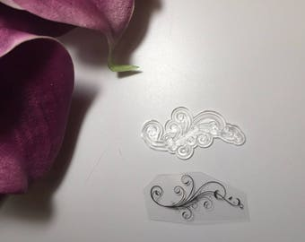 stamp clear transparent arabesque end