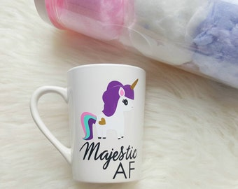 Majestic af mug/majestic af unicorn/majestic af coffee mug/unicorn coffee mug/unicorn mug/funny unicorn mug/adult humor mugs/unicorn mom mug