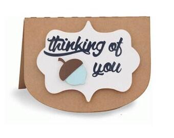 Thinking of You Acorn Card , Pop Dots , Blank inside , PaperCut , Friend , Family