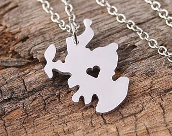 I heart Scotland Necklace - Scotland Pendant -Scotland Map Charm - Map necklace - Map Jewelry