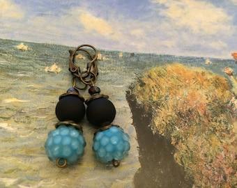 Earrings ' black turquoise