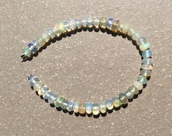 Clear opal beads, Ethiopian Welo Opal, natural Opal Beads,