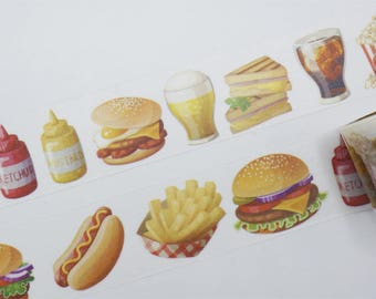 Fast Food Washi Tape/Japanese Washi Tape / Deco tape TZ2465