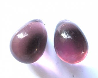 2 CURVED 14/24 MM PURPLE DROPS