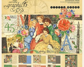 NEW!!! Graphic 45 Little Women 12x12 Collection Pack SC007762