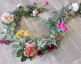 Eucalyptus Garland, Flower Garland, Floral Garland, Wedding Garland, Silk Flower Garland, Wedding Flower Garland, Silk Flowers, Garland