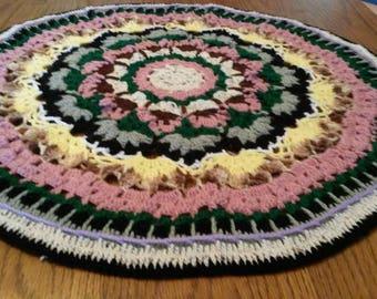 Crochet mandala ,rug , blanket