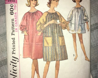 HAS BEEN CUT - Vintage 1965 Swimsuit Cover House Dress Simplicity #6074 Size Medium 14 - As Is