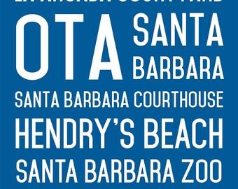Santa Barbara Wall Canvas