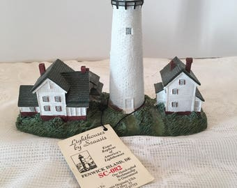 Fenwick Island Lighthouse Sculpture ~ Scaasis Originals ~ Fenwick Island Delaware ~ Original Tag Included ~ Vintage
