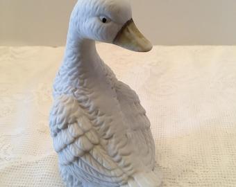Duck Figurine ~ White Duck ~ Interpur ~ Made in Taiwan ROC ~ Vintage