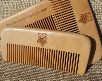 Beard Comb -  wood, anti-static