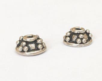 Bali Sterling Silver Bead Caps 8mm-2pc.