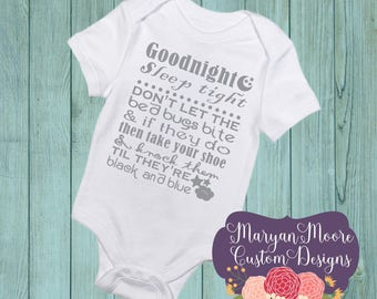 Good Night Sleep Tight Nursery Rhyme Oneise Bodysuit