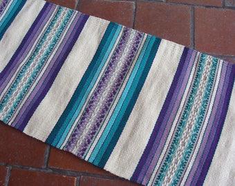 Purple Teal Rug Etsy