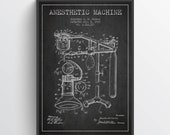 1919 Anesthetic Machine Patent Art Print, Medical Patent, Home Decor, Gift Idea, ME01P