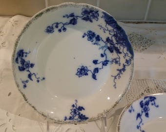 Flow Blue Salad or Soup Bowls by W. H. Grindley in the Duchess Pattern (2)