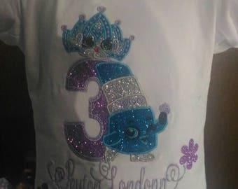 Shopkins t-shirt, shopkins birthday t-shirt