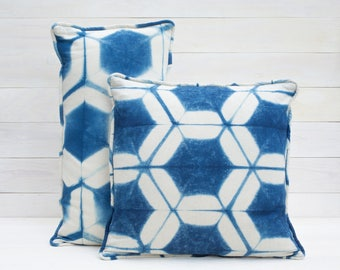 Honeycomb Shibori Pillow Cover