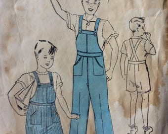 Advance 1826 vintage 1930's boys overalls sewing pattern size 4