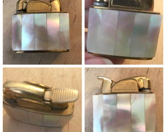 Mother Of Pearl Ladies Table Lighter, MOP Dainty Lighter