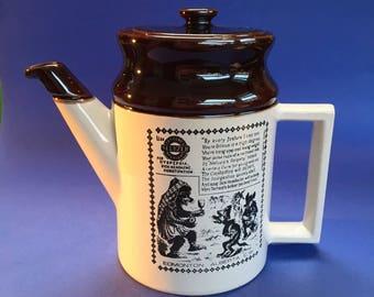Abenakis Vintage Canadian Pottery Coffee Pot Tea