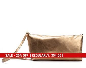 evening purse leather clutch purse - leather shoulder bag purse - shoulder purse - leather clutch bag - leather bag - Trapeze by KISIM