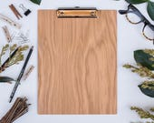RESERVED - Laraine: Custom Clipboard / WHITE OAK