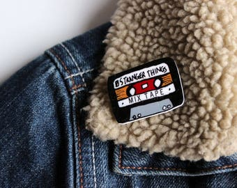 SALE Stranger Things 'Mix Tape' pin badge