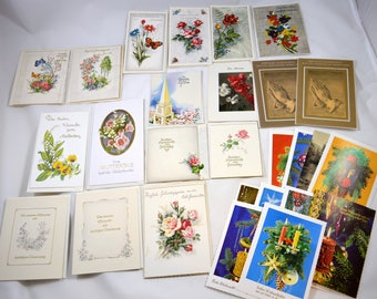Vintage German Greeting Cards UNUSED 27 Assorted 10 German Christmas Postcards Vintage Greeting Card Lot German Language