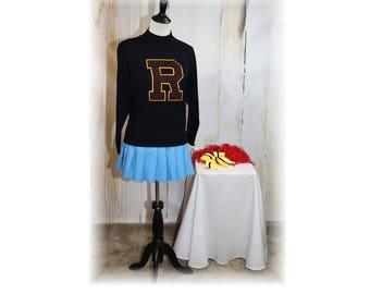 Retro Cheerleader / Vintage Cheerleader / Cheerleader Sweater / Cheerleader Costume-Medium-Large (K73)
