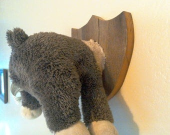 Stuffed Throphy Mounted Reindeer - Upcycled Room Decoration - Hunter Morbid Cute Clever