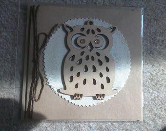 Handmade Rustic Owl Greetings Card