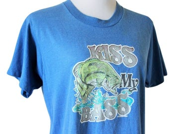 VTG 1970s Kiss My Bass T/Fits Close to: M-M/L