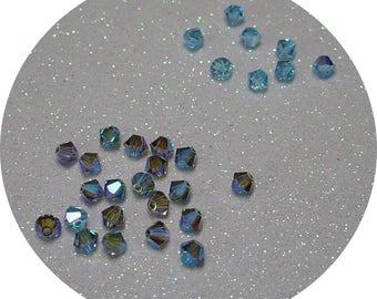 SWAROVSKI BLACK DIAMOND AB 2 X 4MM BICONE BEAD