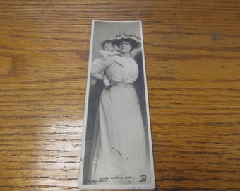 Early 1900's Bookmark-Postcard Clara Butt & Baby   Rotary Photo Series