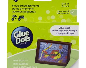 "GLUE DOTS Mini Adhesive.  VALUE Pack.  ~ 600 3/16"" Permanent, Bonds Instantly, Multi-Use Acid-Free Glue Dots"